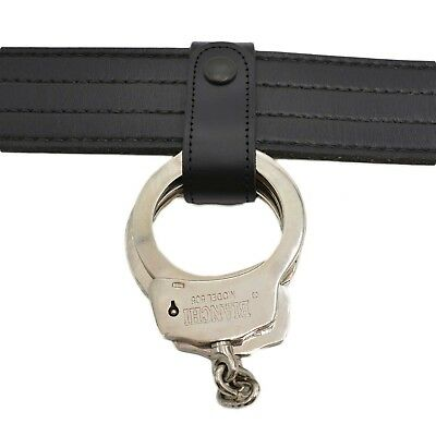 Perfect Fit Handcuff Strap Black Snap Leather Police Corrections Duty Belt Gear