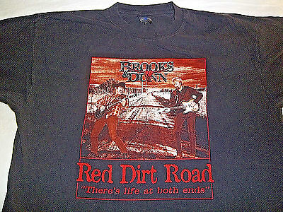 """Vintage Original BROOKS & DUNN - RED DIRT ROAD - """"There's Life At Both Ends""""-2XL"""