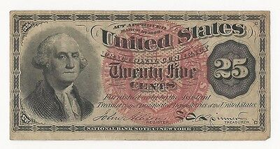 1863 25 Cent Washington Fractional Currency 4th Issue ~ Great Condition