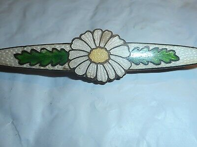 Antique Victorian Enamel Dasey Pin Brooch 100 years old C Clasp Vintage Beauty
