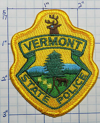 "Vermont State Police 3"" Hat Patch"