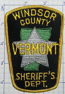Vermont, Windsor County Sheriff's Dept Patch