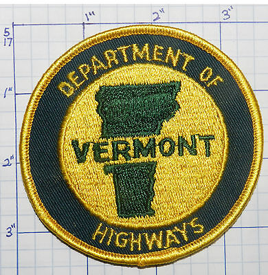 Vermont State Department Of Highways Police Vintage Patch