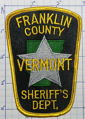 Vermont, Franklin County Sheriff's Dept Patch