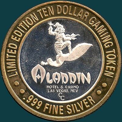 "Aladdin Hotel Limited Edition $10 Sterling Silver Token ""Sinbad"""