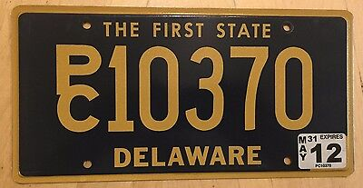 """Delaware Politically Correct  License Plate """" Pc 10370 """"  De The First State"""