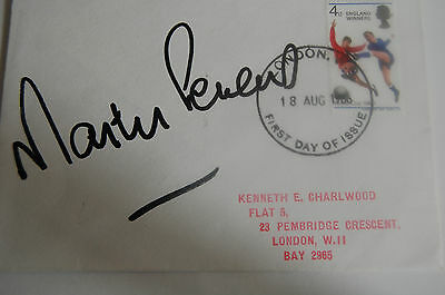 1966 World Cup Fdc Signed Martin Peters