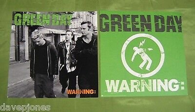"""GREEN DAY Warning: 2 USA 2000 Reprise Promo Flats / Posters 12"""" X 12"""""""