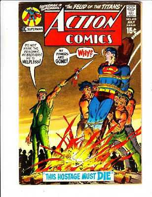 Action Comics #402 strict FN+ Bronze Age Superman DC 1971 100's Of Superman Now