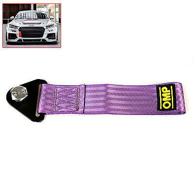 Sports Lila High Strength Racing Tow Strap Set for Front Rear Bumper Towing Hook