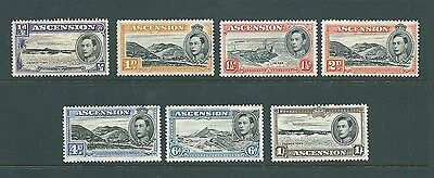 ASCENSION ISLAND - 1938 MINT stamps to 1 Shilling