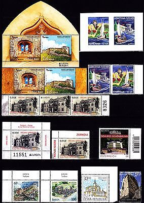 EUROPA CEPT - 2017 - 53 Different Complete Countries -(Please see 10 scan)** MNH