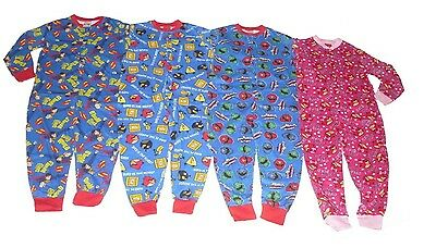 Boys & Girls All In One Sleepsuit Pyjamas Superman Angry Birds Power Rangers