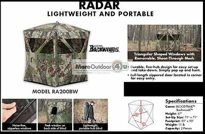 Ra200Bw Barronett Blinds Radar 2 Person Hunting Backwoods Hub Blind
