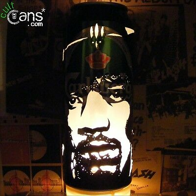 Jimi Hendrix Beer Can Lantern! Pop Art Portrait Lamp Unique Gift Experience