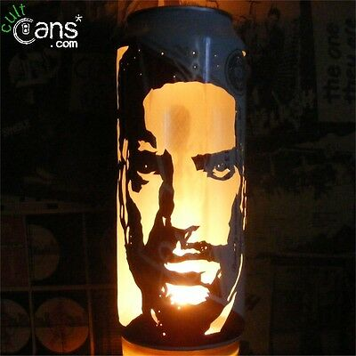 Trent Reznor Beer Can Lantern! Nine Inch Nails Pop Art Portrait Candle Lamp