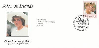 (02029) Solomon Islands FDC Princess Diana Death 31 March 1978