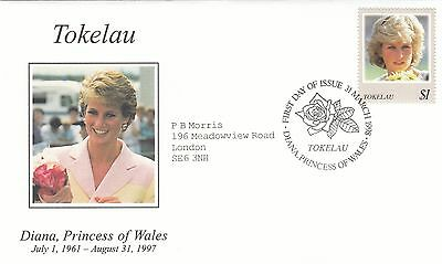(02026) Tokelau FDC Princess Diana Death 31 March 1998