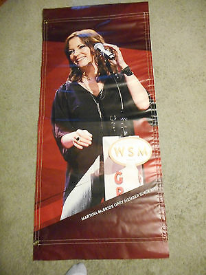 RARE!! Martina McBride Grand Ole Opry Vinyl Poster Banner