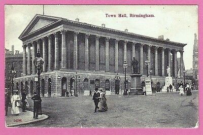 Unposted pre. 1918. The Town Hall, Birmingham. West Midlands