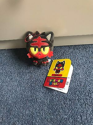 pokemon litten pokedoll mascot plush mwt pokemon doll plush soft toy