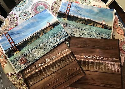 4 Pack Costco Eco Reusable Shopping Grocery Tote Bags Northern California Ed.
