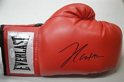 Julio Cesar Chavez Sr Signed Autographed Red Everlast Boxing Glove Right JSA