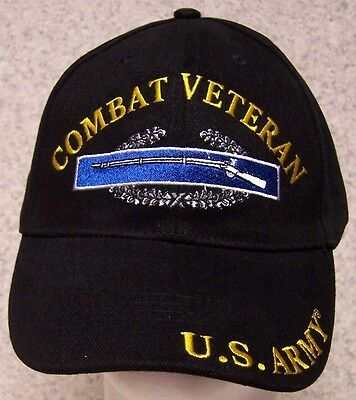 5d5fe4ceba9 Embroidered Baseball Cap Military Army Combat Veteran NEW 1 hat size fits  all