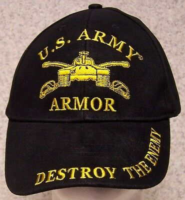 cc3018cbb6f Embroidered Baseball Cap Military Army Armor NEW 1 hat size fits all