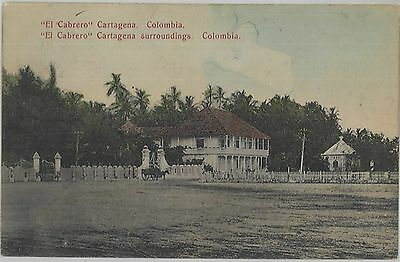 1910 El Cabrero Cartegena surroundings Columbia handcolored postcard view