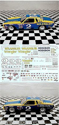 Dale Earnhardt #2 Wrangler Hodgdon Mike Curb 1979-1980 Powerslide 1/24 DECALS