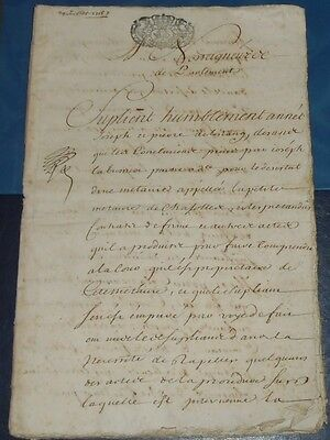 1715 Antique Legal Manuscript 36 Pages Handwritten Document Notary Notarial