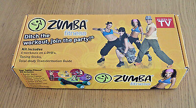 Zumba Fitness Workout kit, Toning Sticks and dvds still sealed,