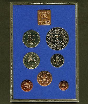 "1977 Great Britain "" Queen's Jubilee "" Proof 7 Coin Set With Medal"