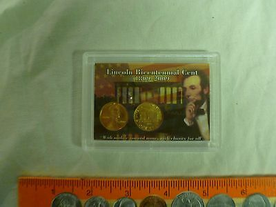 2009 P&d Early Years Lincoln Bicentennial Cent Set In Colorful 2X3 Holder