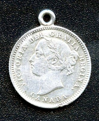 "Antique Canada Victoria 10 Cent Silver Love Token ""Jennie"""