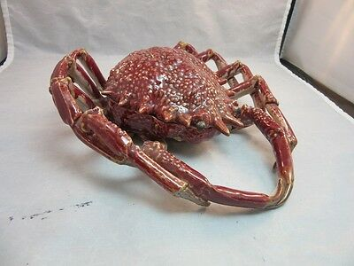Amazing vtg ceramic CRAB covered dish. Must see details! Made in Germany