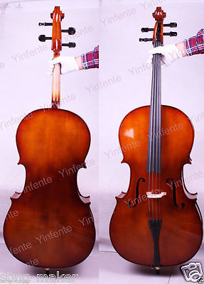 1 pcs 4/4 New Cello Solid wood High quality Powerful Sound Hand Made