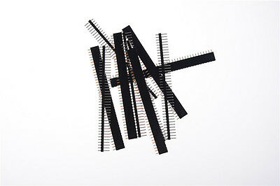 10pcs 40 Pin 2.54mm Single Row Straight Male Female Pin Header Strip US