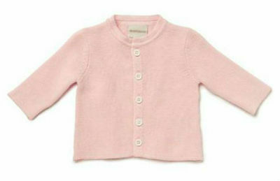 Marquise Knitted Cotton Cardigan - PINK