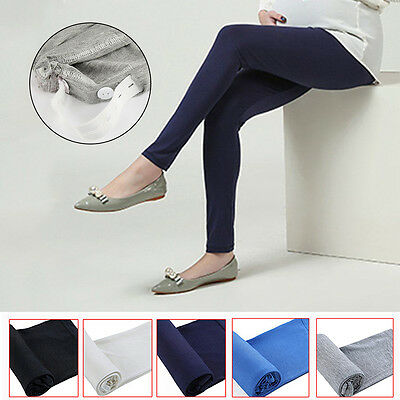 Elastic Pregnant Women Cotton Maternity Leggings Skinny Pants Belly 5 Colors