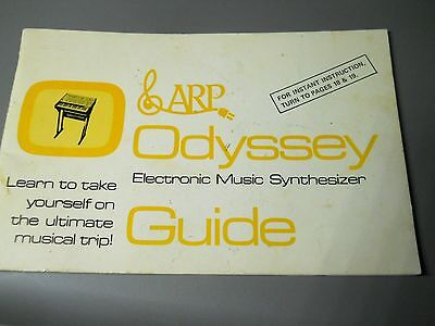 ARP ODYSSEY Vintage  Synthesizer Owner's Manual Guide Book ORIGINAL