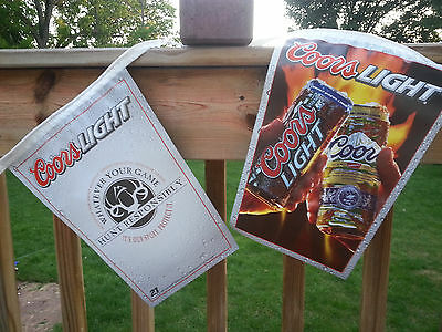 Coors light & Coor Original Beer Pennant  Banner Bar  Hunting Sign 30' String