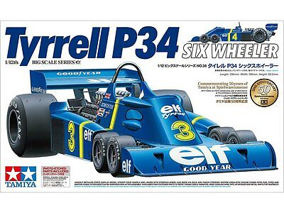 Tamiya 12036 Honda Tyrrell P34 Six Wheeler w/Photo Etched Parts 1/12 *Pre Order*