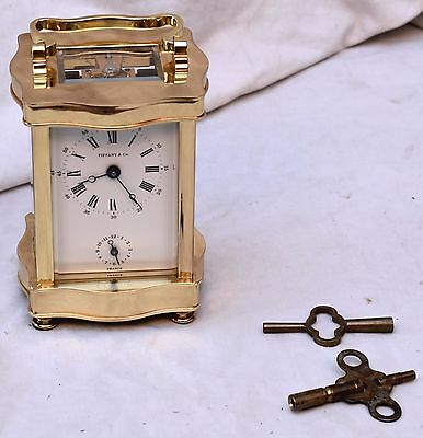 Stunning L'Epee Tiffany (Repeater?) Alarm Striking Brass  French Carriage Clock