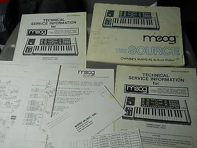 MOOG The Source SYNTHESIZER Owner's Manual Schematic Tech Service Book