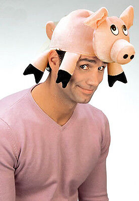 Pig Hat Mens Ladies Adult Big Silly Fancy Dress Costume Hat New