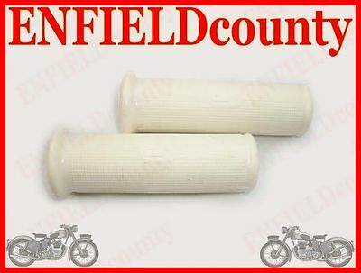 New Vespa White Twist Headset Rubber Grip Pair Rally @cad