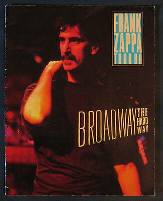 "FRANK ZAPPA Tour 1988 ""Broadway The Hard Way"" 24 Page Tour Book Program 11 x 14"""
