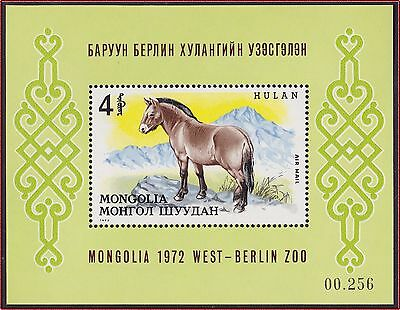 MONGOLIE BLOC N°28** Bf  Cheval TB, 1972 MONGOLIA Horse SHEET MNH